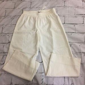 NWT DREW White Cropped Wide Leg Pants Size Small